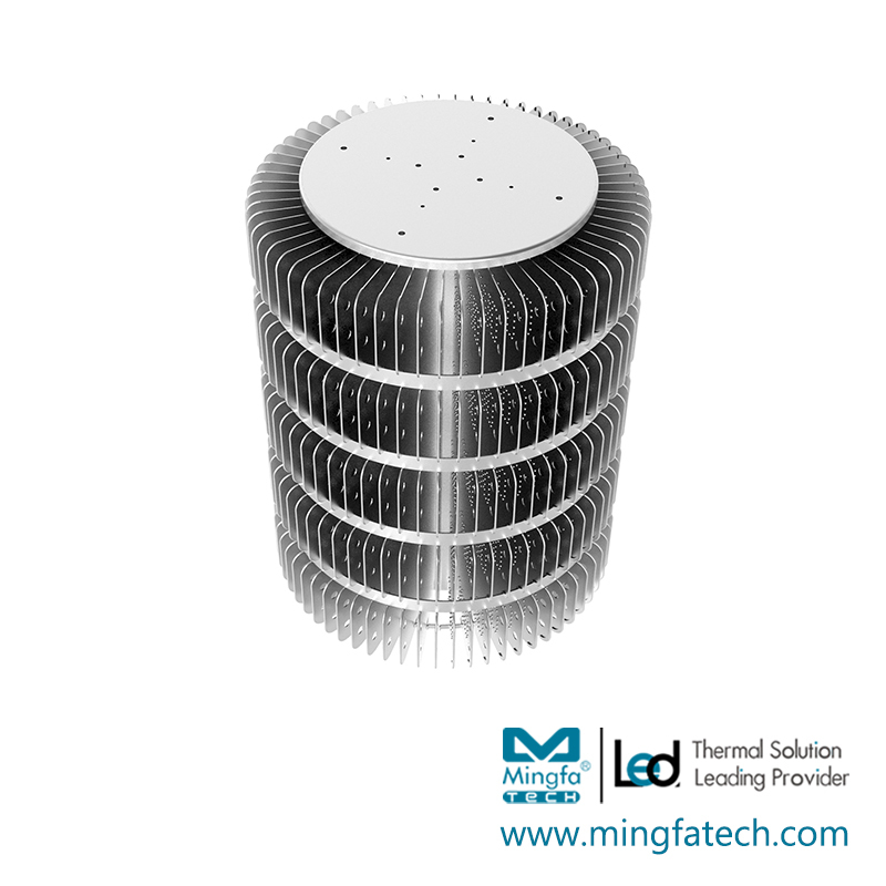 HibayLED-330315 aluminum extrusion and stamping heat sink