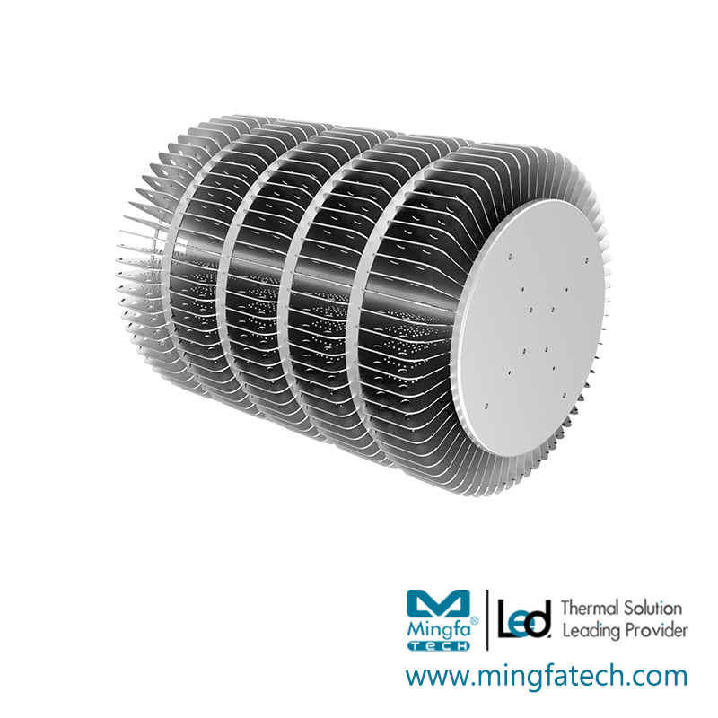 HibayLED-445370 clear anodized AL1070 hibay LED heat sinks