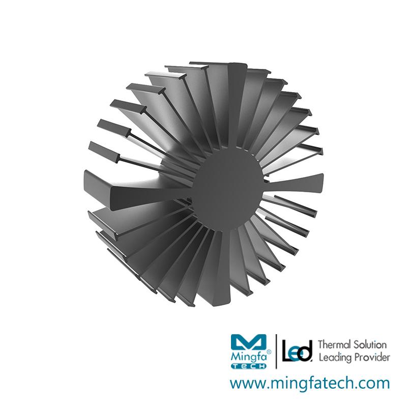 SimpoLED-16050/160100/160150 black anodized extruded heatsink