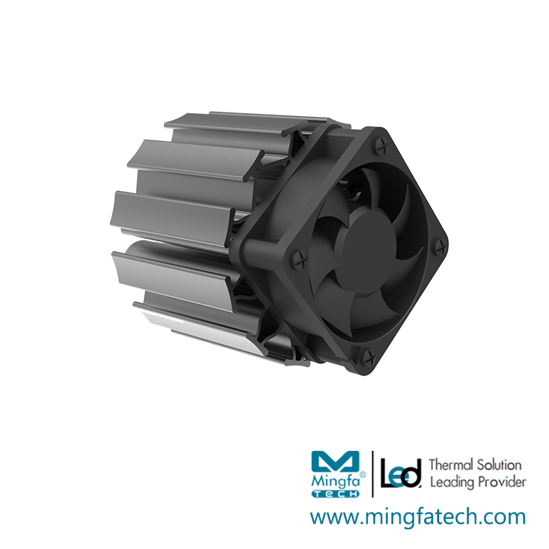 ActiLED-F7070 active cooling( heatsink and fan)