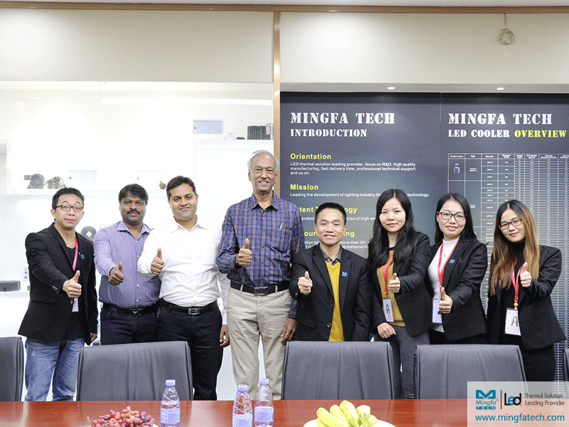 Warmly welcome Indian customers to visit and cooperate with Mingfa Tech again