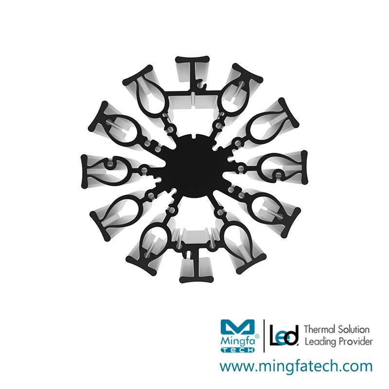 FanLED-9620/9650/9680 led light aluminum heat sink manufacturers