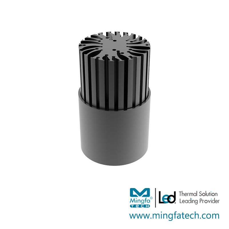 BuLED-30E/50E LED light accessory heat sink black anodized coolers