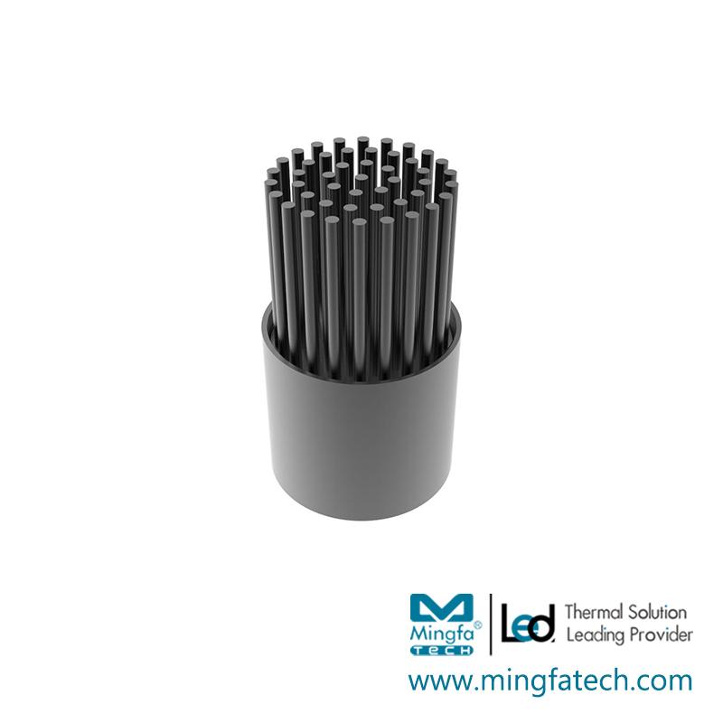 BuLED-30F/50F black anodized heatsink kit light fixture kit
