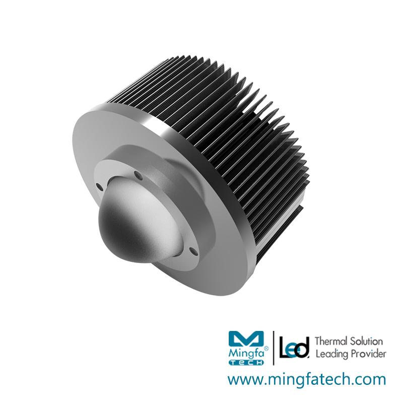 xLED Kits-165/225 black anodized & clear anodized led light housing
